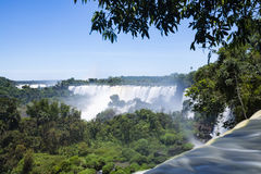 Iguazu falls at the border of Argentina and Brazil stock photography