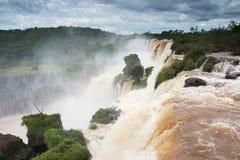 Iguazu Falls on the border of Brazil and Argentina Stock Photo