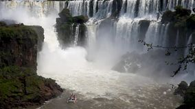 Iguazu Falls, on the border of Brazil and Argentina. stock footage
