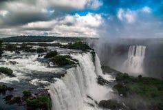 Iguazu Falls brasiliansk sida royaltyfria foton
