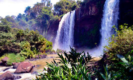 Iguazu Falls Brasilien Argentina Arkivfoton