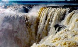 Iguazu Falls Brasilien Argentina Paraguay Royaltyfri Bild