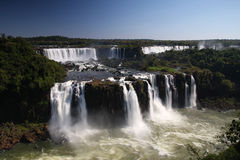 Iguazu falls from brazil Stock Photo