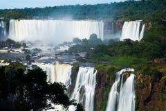 Iguazu Falls in Brazil. General viewing of the impressive Iguazu Falls system in Brazil stock photography