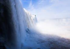 Iguazu Falls in Brazil. General viewing of the impressive Iguazu Falls system in Brazil royalty free stock photo