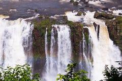 Iguazu Falls in Brazil. General viewing of the impressive Iguazu Falls system in Brazil stock photos