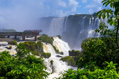 Iguazu Falls in Brazil Royalty Free Stock Photography