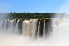 Iguazu falls, Brazil from side of Argentina Royalty Free Stock Images