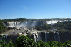 Iguazu Falls - Brazil Side. The Brazilian side of Iguazu Falls on a clear summers day Royalty Free Stock Photo
