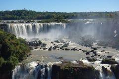 Iguazu Falls - Brazil Side. The Brazilian side of Iguazu Falls on a clear summers day Stock Photography