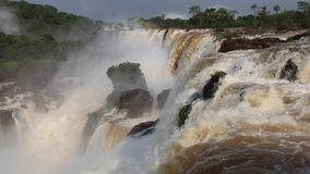 Iguazu Falls Brazil stock video footage