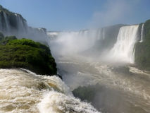 Iguazu falls. Brazilian side of the famous Iguazu falls. South America Royalty Free Stock Photo