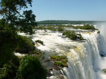 Iguazu falls. Brazilian side of the famous Iguazu falls. South America Stock Photo