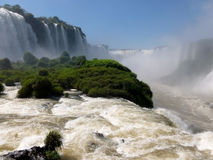 Iguazu falls. Brazilian side of the famous Iguazu falls. South America Royalty Free Stock Image