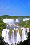 The Iguazu Falls on the Brazilian side Royalty Free Stock Images