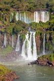 The Iguazu Falls. Iguazu Falls (Cataratas del Iguazu) are waterfalls of the Iguazu River on the border of the Argentina and the Brazil. Iguazu are the largest Stock Photo