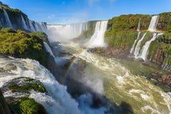 The Iguazu Falls. Iguazu Falls (Cataratas del Iguazu) are waterfalls of the Iguazu River on the border of the Argentina and the Brazil. Iguazu are the largest Royalty Free Stock Image