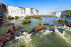 The Iguazu Falls. Iguazu Falls (Cataratas del Iguazu) are waterfalls of the Iguazu River on the border of the Argentina and the Brazil. Iguazu are the largest Royalty Free Stock Photos