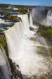 The Iguazu Falls. Iguazu Falls (Cataratas del Iguazu) are waterfalls of the Iguazu River on the border of the Argentina and the Brazil. Iguazu are the largest Royalty Free Stock Photo
