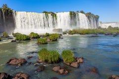 The Iguazu Falls. Iguazu Falls (Cataratas del Iguazu) are waterfalls of the Iguazu River on the border of the Argentina and the Brazil. Iguazu are the largest Stock Photography
