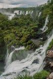 Iguazu falls in a cloudy day. Iguazu falls in Argentina with clouds Stock Image