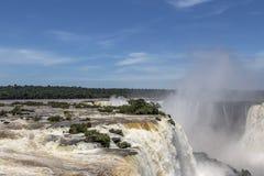 Iguazu Falls, el Brasil Imagen de archivo libre de regalías