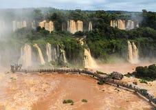 Iguazu Falls en el Brasil Imágenes de archivo libres de regalías