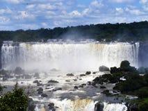 Iguazu Falls foz de Iguacu , Seven Wonders of the world. Foz de Iguazu, Border Between Argentina and Brazil. UNESCO Heritage royalty free stock photo