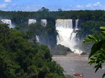 Iguazu Falls foz de Iguacu , Seven Wonders of the world. Foz de Iguazu, Border Between Argentina and Brazil. UNESCO Heritage royalty free stock images