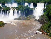 Iguazu Falls foz de Iguacu , Seven Wonders of the world. Foz de Iguazu, Border Between Argentina and Brazil. UNESCO Heritage royalty free stock photography