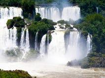 Iguazu Falls foz de Iguacu , Seven Wonders of the world. Foz de Iguazu, Border Between Argentina and Brazil. UNESCO Heritage royalty free stock photos