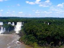 Iguazu Falls foz de Iguacu , Seven Wonders of the world. Foz de Iguazu, Border Between Argentina and Brazil. UNESCO Heritage stock photos
