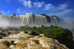 Iguazu falls, Garganta del Diablo Royalty Free Stock Photography