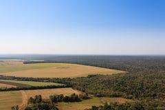 Iguazu falls helicopter view, Argentina Stock Photo