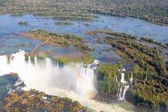 Iguazu falls helicopter view, Argentina Stock Photos