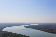 Iguazu falls helicopter view, Argentina Royalty Free Stock Photos