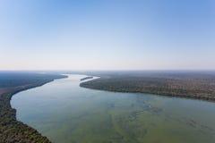 Iguazu falls helicopter view, Argentina Stock Photography