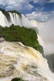 Iguazu Falls i Brasilien Arkivbild