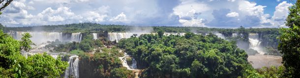 Iguazu falls. National park. tropical waterfalls and rainforest landscape Royalty Free Stock Photography