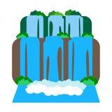 Iguazu Falls illustration royaltyfri illustrationer
