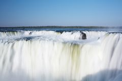 Iguazu Falls. Located on the border of Brazil and Argentina Royalty Free Stock Photography