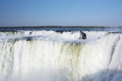 Iguazu Falls. Located on the border of Brazil and Argentina Stock Images