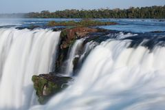 Iguazu Falls. Located on the border of Brazil and Argentina Stock Photos