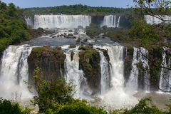 Iguazu Falls, one of the world`s great natural wonders Royalty Free Stock Image