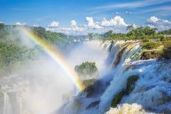 Iguazu Falls på gränsen av Argentina och Brasilien Royaltyfri Fotografi