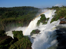 Iguazu Falls and rainbow Stock Image