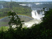 Iguazu Falls with rainbow Stock Photos