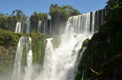 Iguazu falls. In a sunny day in Misiones, Argentina Stock Photos