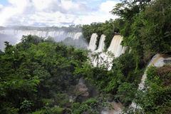 Iguazu falls top view. Iguazu watefalls top view from Argentina side stock images