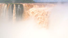 Iguazu Falls, Unesco world heritage site. Located on the border between Argentina and Brazil stock video footage